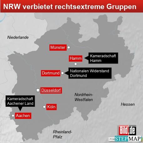 NRW verbietet rechtsextreme Gruppen