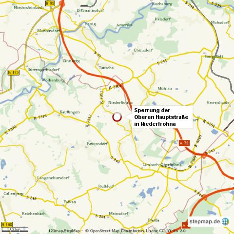 Niederfrohna Straßensperrung 2012/2013