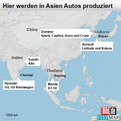Hier werden in Asien Autos produziert