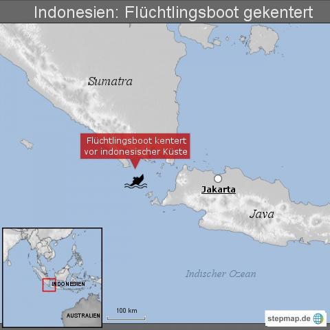 Indonesien: Flüchtlingsboot gekentert