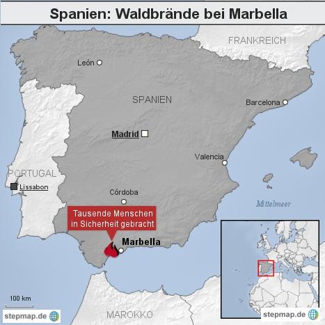 Spanien: Waldbrände bei Marbella