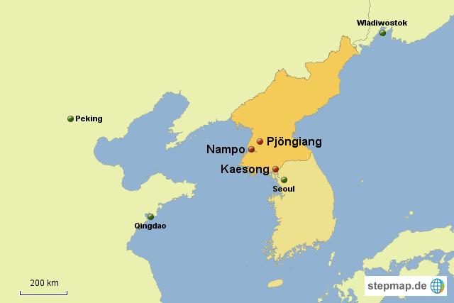 Besuchte Orte in Nordkorea