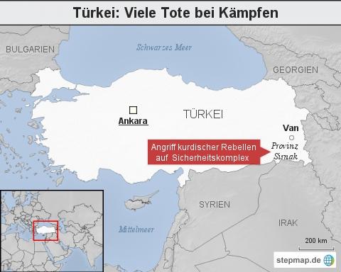Türkei: Viele Tote bei Kämpfen