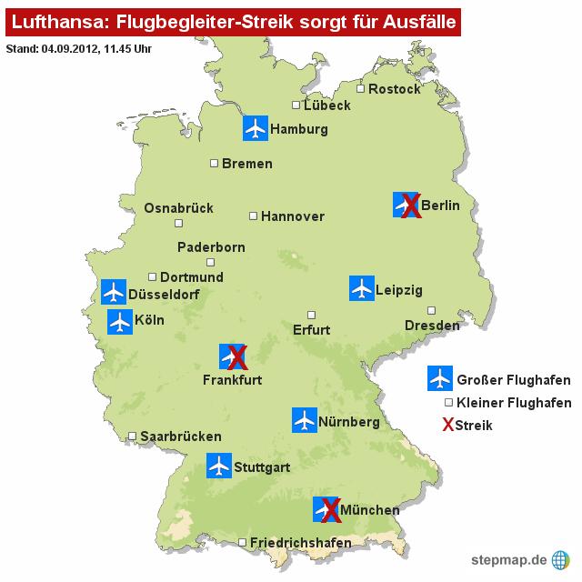 Lufthansa: Flugbegleiter-Streik sorgt für Ausfälle