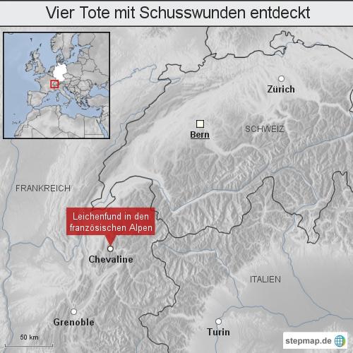 Alpen: Vier Tote mit Schusswunden entdeckt