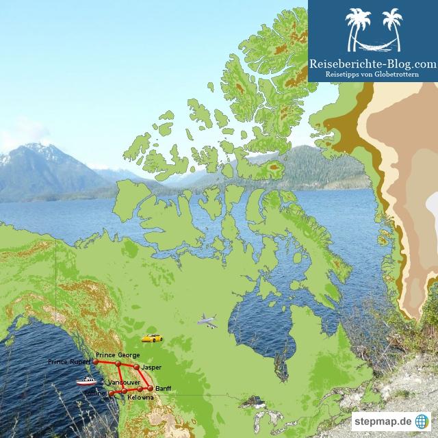 Kanada- eine Rundreise durch British Columbia