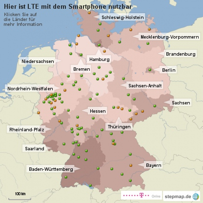 LTE-Abdeckung in Deutschland