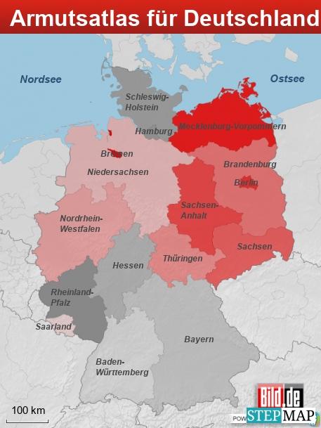 Armutsatlas für Deutschland