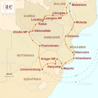 Routenkarte zur Reise Mehr-Ländersafari – Southern Circle