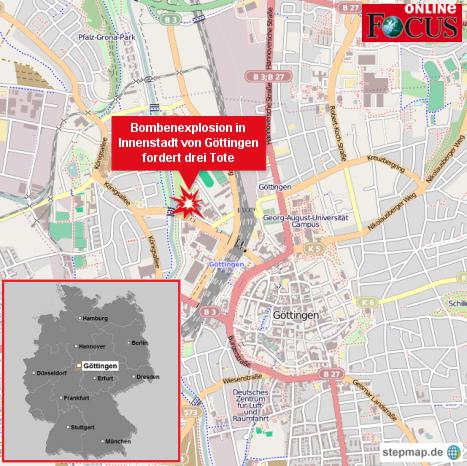 Bombenexplosion in Göttingen