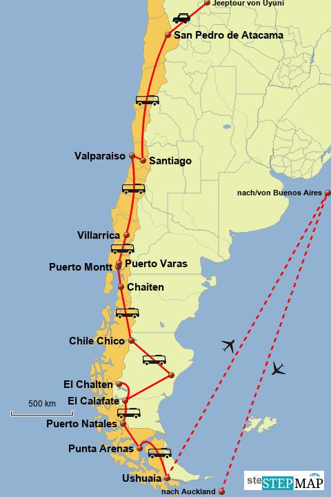 Weltreise Chile und Argentinien