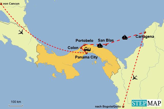 Weltreise Panama Kolumbien
