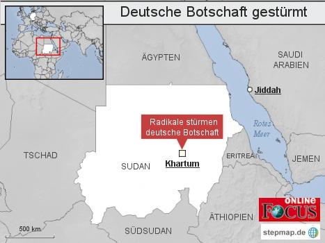 Sudan: Deutsche Botschaft gestürmt
