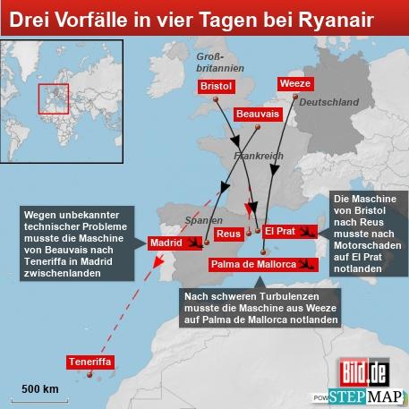 Ryanair Zwischenfälle