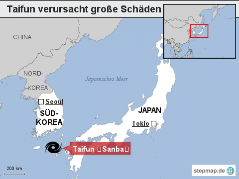 Taifun verursacht große Schäden