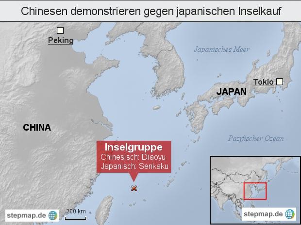 Chinesen demonstrieren gegen japanischen Inselkauf