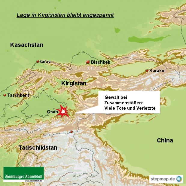 Lage im Süden Kirgistans bleibt weiter gespannt:
