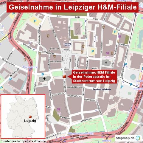 Geiselnahme in Leipziger H&M-Filiale