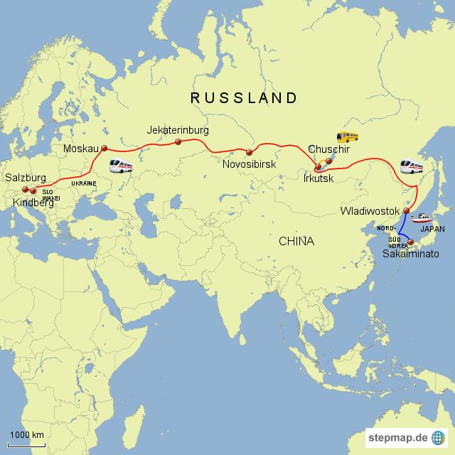 Russland-Reise 2010 (Transsibirische Eisenbahn