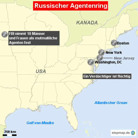 Russische Agenten in den USA verhaftet