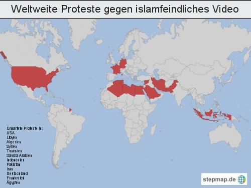 Weltweite Proteste gegen islamfeindliches Video