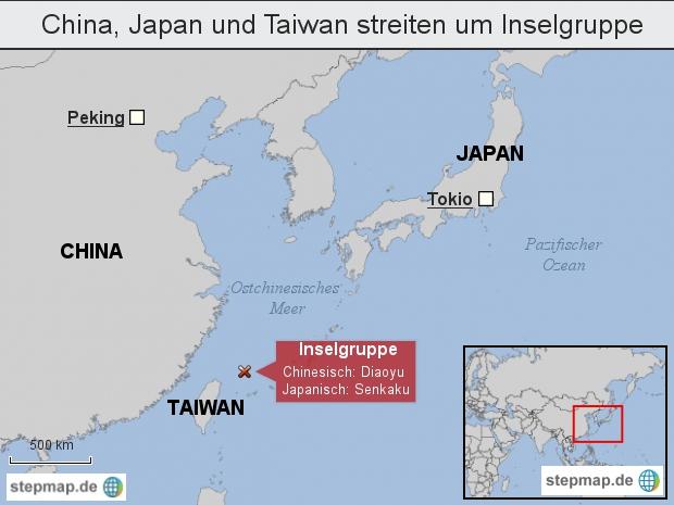 China, Japan und Taiwan streiten um Inselgruppe