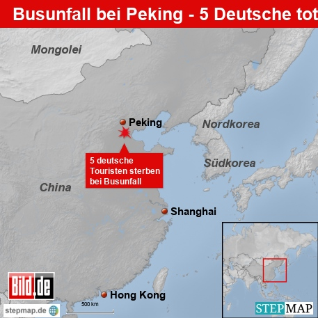 Busunfall in China - 5 deutsche Touristen tot