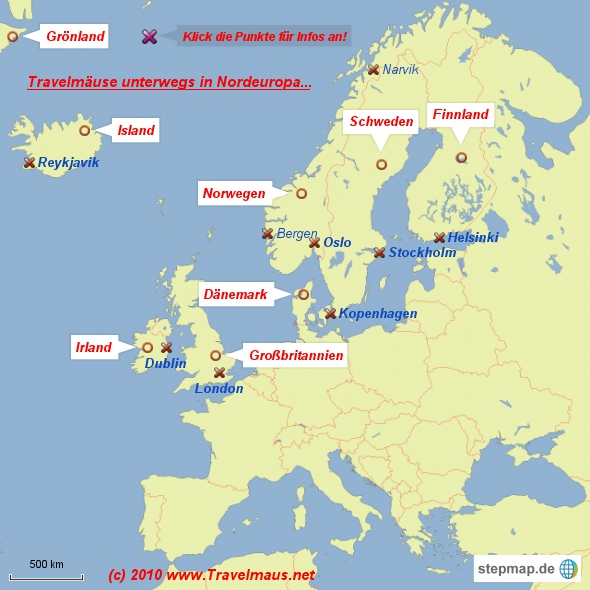 Travelm�use in Nordeuropa