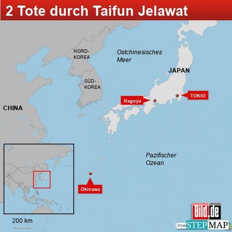 2 Tote durch Taifun Jelawat