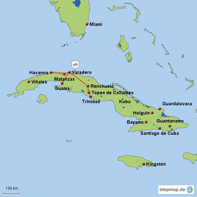 Karte Kuba.Karte Kuba Karte