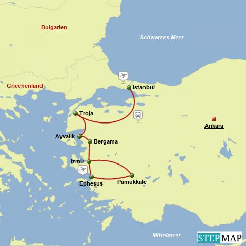 Istanbul und Westtürkei Reise