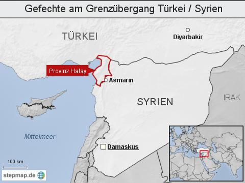 Gefechte am Grenzübergang Türkei / Syrien