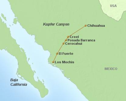 Mexico Kupferschluchten 5 Tage