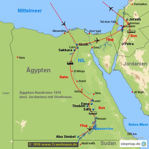 �gypten-Rundreise 1979