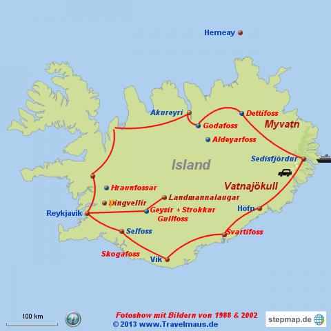 Island mit den Travelm�usen