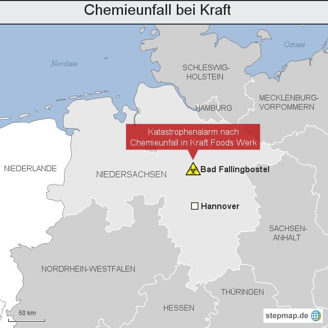 Chemieunfall bei Kraft