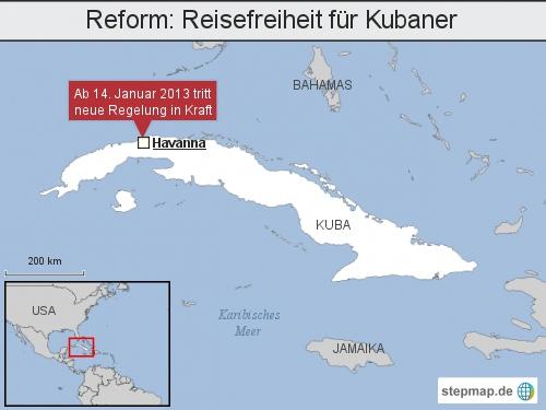 Reform: Reisefreiheit für Kubaner