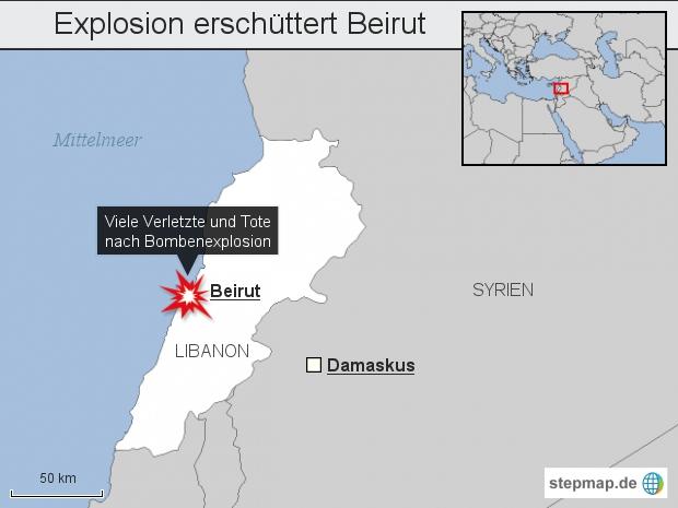 Explosion erschüttert Beirut