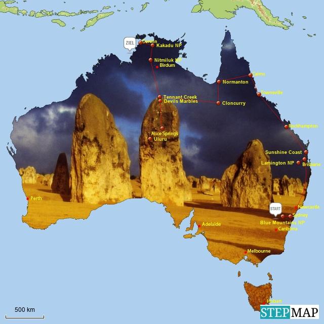 Australienreise 1998