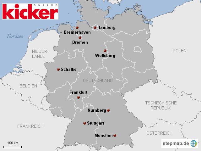 Interaktive Karte - Felix Magath: Stationen als Trainer
