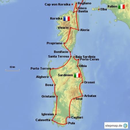 Sardinien  Info Korsika  Info