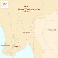 Routenkarte zur Reise Aktiv durchs Shan-Hochland