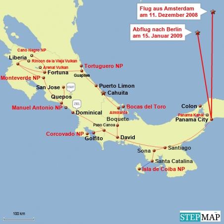 Meine Rundreise in Mittelamerika.