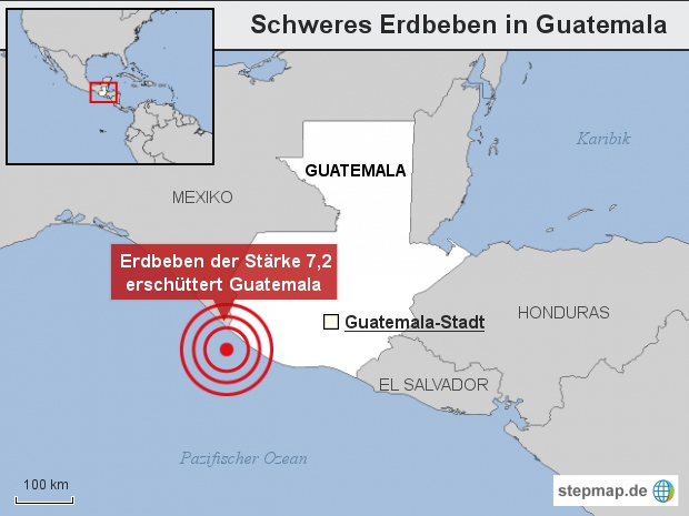 Schweres Erdbeben in Guatemala
