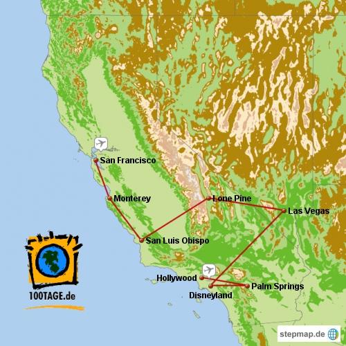 21 Tage Kalifornien