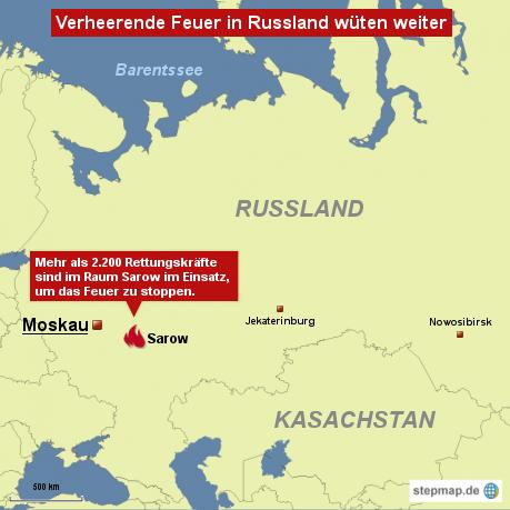 Verheerende Feuer in Russland wüten weiter