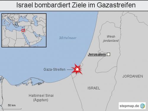Israel bombardiert Ziele im Gazastreifen