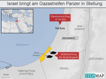Israel bringt am Gazastreifen Panzer in Stellung