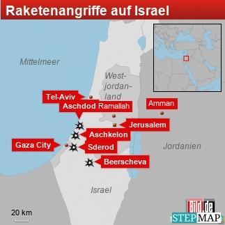 Raketenangriffe auf Israel