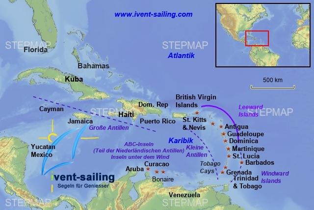 Segeln in der Karibik